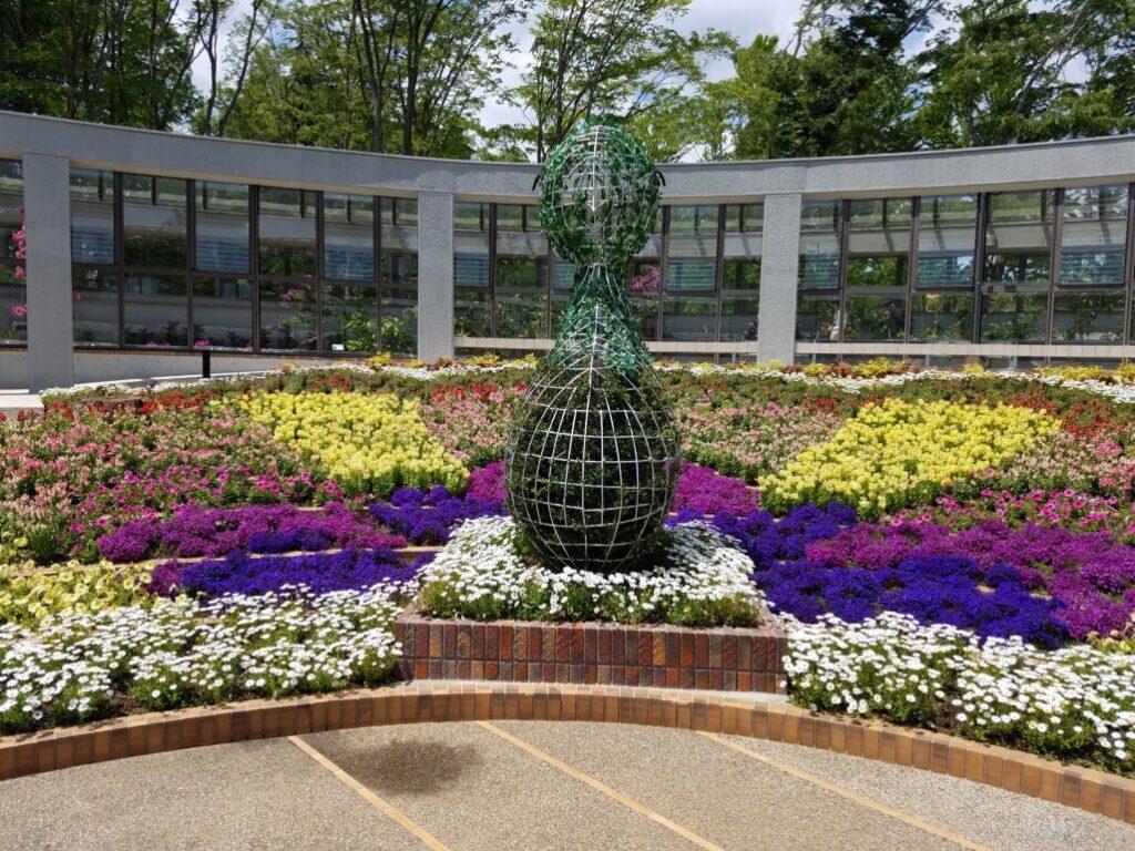 孔雀の花壇
